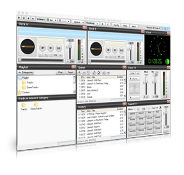 Start your online radio station with SAM Broadcaster Mac, a all-in-one solution.