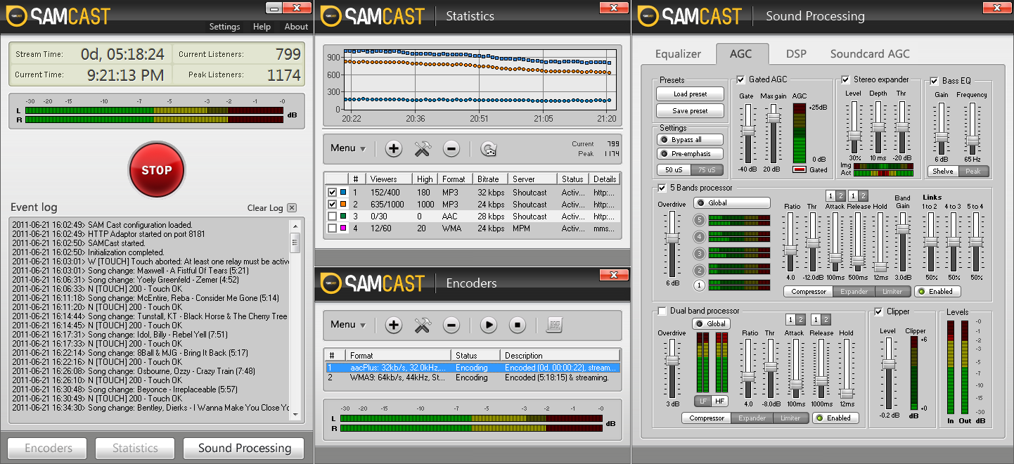 Start streaming live audio content with SAM Cast. The #1 Live Streaming Solution