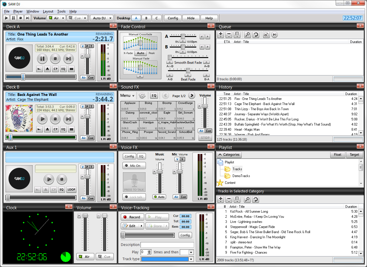 SAM DJ - Professional DJ software for those serious about music! quick Screen Shot